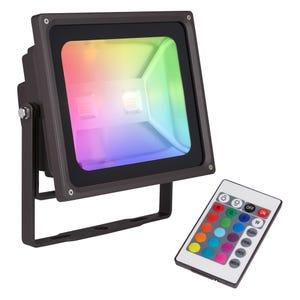 AMP® 120V RGBW 30W LED Flood Light (Dimmable)