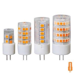 G4 Bi-Pin LED Color Lamp (Candle Light Orange, Omnidirectional)