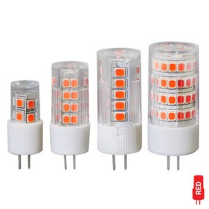 G4 Bi-Pin LED Color Lamp (Rich Red, Omnidirectional)